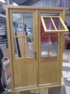 French Doors have opening sash incorporated