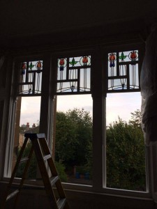 This magnificent 100 year old glass has been lovingly encapsulated making it double glazed so that the new windows match existing 3