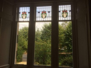 This magnificent 100 year old glass has been lovingly encapsulated making it double glazed so that the new windows match existing 8